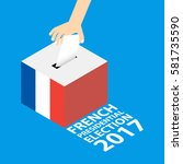 french presidential election... | Shutterstock .eps vector #581735590