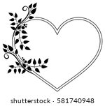 heart shaped black and white... | Shutterstock . vector #581740948