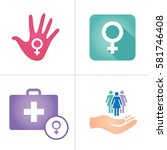 colorful women's services icon... | Shutterstock .eps vector #581746408