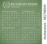 big icon set clean vector | Shutterstock .eps vector #581748544