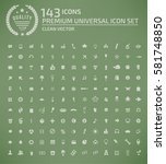 website icon set clean vector | Shutterstock .eps vector #581748850