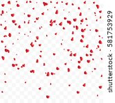 Stock vector falling rose petals isolated on transparent background vector 581753929
