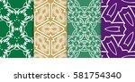 seamless set floral pattern....   Shutterstock .eps vector #581754340