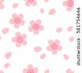 cherry blossoms   Shutterstock .eps vector #581754646