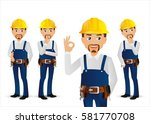 elegant people professional... | Shutterstock .eps vector #581770708