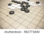 go game or weiqi  chinese board ... | Shutterstock . vector #581771830
