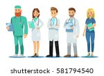 set of doctors characters.... | Shutterstock .eps vector #581794540