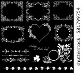 set of vintage st. patrick s... | Shutterstock .eps vector #581799754