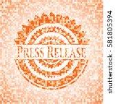 press release orange mosaic...   Shutterstock .eps vector #581805394