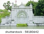 ancient europe style watergate  ... | Shutterstock . vector #58180642