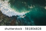 aerial shooting surfing | Shutterstock . vector #581806828