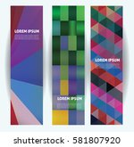 web banners vector template... | Shutterstock .eps vector #581807920