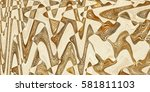 colorful vintage ceramic tiles... | Shutterstock . vector #581811103