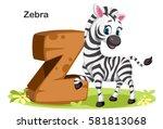 wooden textured bold font... | Shutterstock .eps vector #581813068