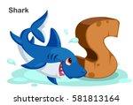 wooden textured bold font... | Shutterstock .eps vector #581813164