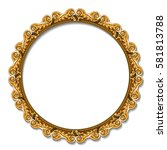 round frame gold color with...   Shutterstock .eps vector #581813788