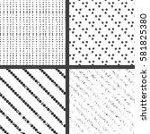 4 grunge black and white...   Shutterstock .eps vector #581825380