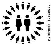 social circle | Shutterstock .eps vector #581828110