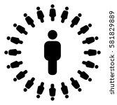 social circle | Shutterstock .eps vector #581829889