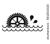 Waterwheel Icon. Simple...