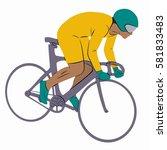 illustration of a rider on bike ... | Shutterstock .eps vector #581833483