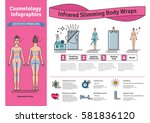 vector illustrated set with... | Shutterstock .eps vector #581836120