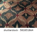 carpet with floral pattern | Shutterstock . vector #581851864