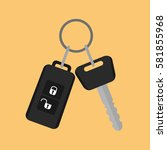 car key with remote control... | Shutterstock .eps vector #581855968