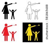 keep away from children | Shutterstock .eps vector #581865688