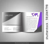 bi fold square business or... | Shutterstock .eps vector #581869798