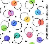 watercolor texture. aquarelle... | Shutterstock . vector #581880280