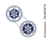 two roll for films. vector... | Shutterstock .eps vector #581885878