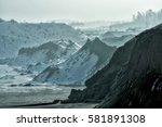 sand mountains in winter | Shutterstock . vector #581891308
