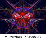 texture. abstract magic energy... | Shutterstock . vector #581905819