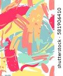 marker stroke seamless pattern. ... | Shutterstock .eps vector #581906410