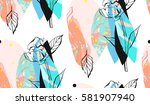 hand made vector abstract... | Shutterstock .eps vector #581907940