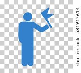 man with flag vector pictograph.... | Shutterstock .eps vector #581912614