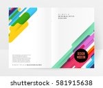memphis geometric background... | Shutterstock .eps vector #581915638