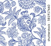 seamless pattern with fantasy... | Shutterstock .eps vector #581917660
