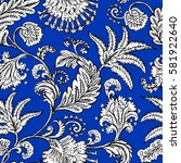 seamless pattern with fantasy... | Shutterstock .eps vector #581922640