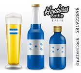 world flag wrapping on beer... | Shutterstock .eps vector #581922898