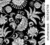seamless pattern with fantasy... | Shutterstock .eps vector #581924758