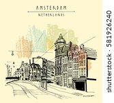 amsterdam  holland  netherlands ... | Shutterstock .eps vector #581926240