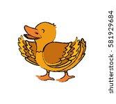 duck farm animal icon vector... | Shutterstock .eps vector #581929684
