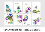 memphis geometric background... | Shutterstock .eps vector #581931598
