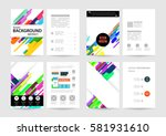 memphis geometric background... | Shutterstock .eps vector #581931610