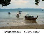 evening beach in ao nang ... | Shutterstock . vector #581934550