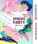 design invitations in style 80s ... | Shutterstock .eps vector #581939074