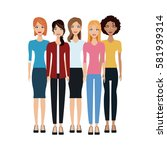 group of women icon | Shutterstock .eps vector #581939314