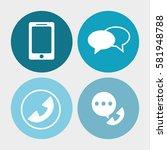 call center service... | Shutterstock .eps vector #581948788
